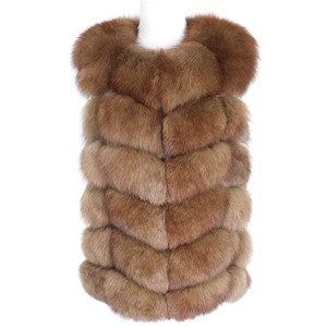 Image 5 - OFTBUY 2020 새 봄 겨울 자켓 여성 리얼 폭스 모피 민소매 조끼 코트 블랙 v 넥 두꺼운 따뜻한 Streetwear 겉옷 캐주얼