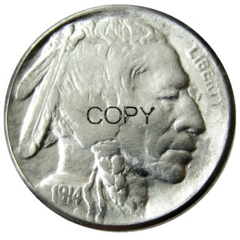 US 1914 P,D,S Buffalo Nickel Five Cents Copy Coins image