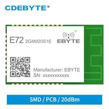 Moduł bezprzewodowy CC2652P ZigBee moduł Bluetooth 2 4Ghz 20dBm SoC Ebyte E72-2G4M20S1E Transceiver i odbiornik PCB IPX antena tanie tanio 2 400~2 480GHz 700m 28 7*17 5mm CDEBYTE CN (pochodzenie) wireless data transceiver