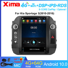 XIMA 4G + 64G Android 2Din Auto Radio Multimedia Video Player Navigation GPS Für KIA Sportage 3 2010 2011-2016 Tesla stil bildschirm