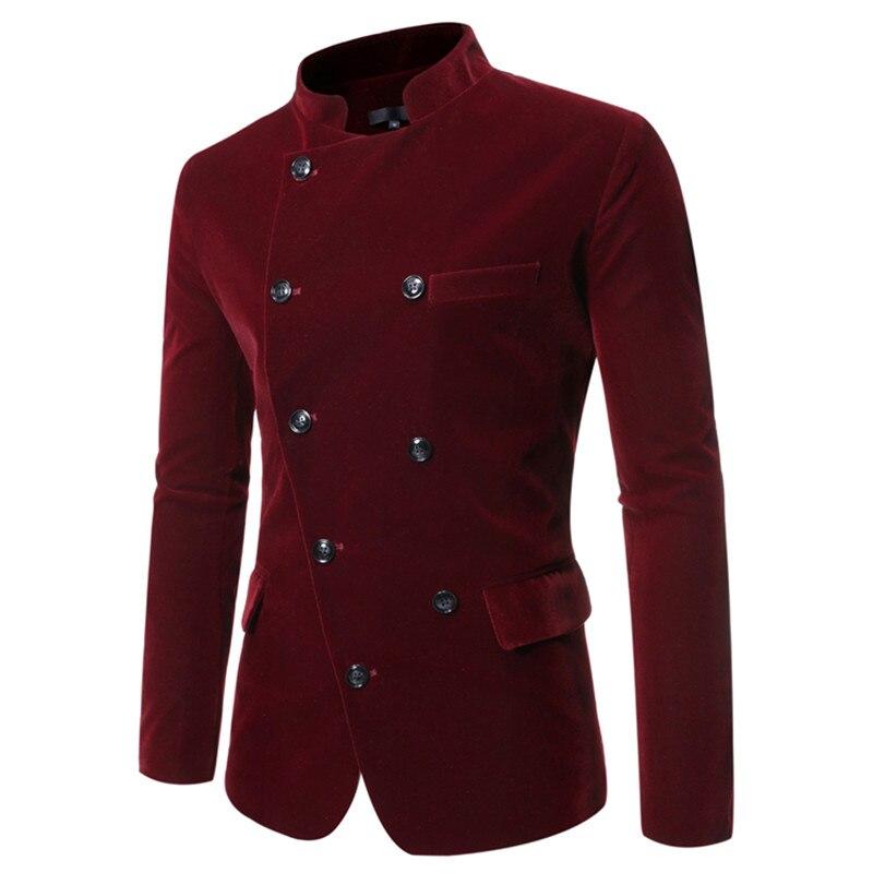 Red Double-Breasted Collar Mens Suit Blazer Stylish Casual Jackets & Coats Black Khaki Men Suit Jacket 3xl