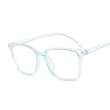Okulary mężczyźni kobiety przezroczyste okulary Nerd okulary z czystymi soczewkami Unisex okulary w stylu retro okulary okulary damskie soczewki tanie i dobre opinie AKLFHNC Z tworzywa sztucznego Stałe