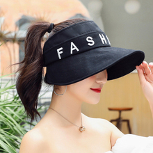 A new sunblock hat for women's summer outing with an alphabet hat with a big eave and an instagram fisherman hat beatles with an a