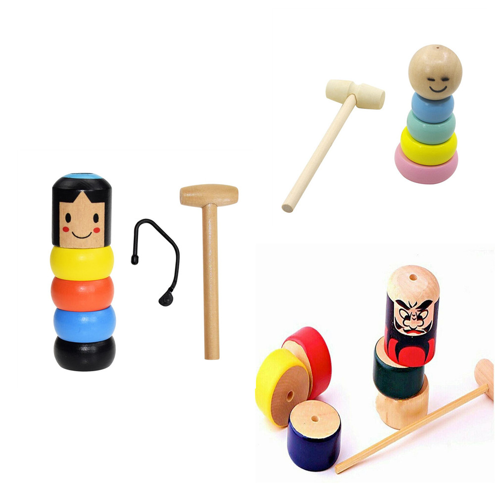 Funny Wooden Unbreakable Man Girl Doll Automatic Assemble Magic Trick Desktop Developmental Kids Toy  Stage Magic Props Kid Gift