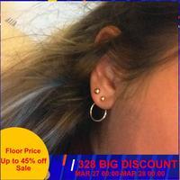 CARTER LISA bijoux de mode or/argent mignon couleur or géométrique petit cercle boucles d'oreilles en métal meilleur cadeau pour les femmes fille