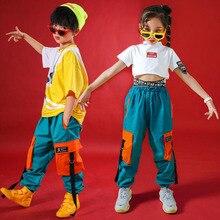 Детские повседневные штаны; укороченный свитер; рубашка; одежда в стиле хип-хоп; одежда для джазовых танцев; костюм для девочек; одежда для бальных танцев; уличная одежда