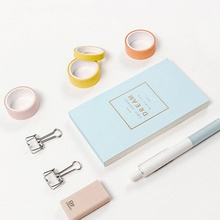 12Pcs/Set DIY Multiple Colour Paper Tape Set Stationery Generous Scrapbooking Supplies Stickers For Home Decoration