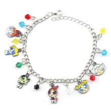 New Arrival Womens Jewelry The Powerpuff Girls Bracelets Blossom Bubbles Buttercup Model Bracelet For Friends Gift
