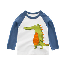 2019 Autumn Cartoon Crocodile Long Sleeve T-shirts For Children  Boys Tops Tees 100% Cotton Girls Clothes Kids T-Shirt For Boys 2017 new fashion children clothes angry bird t shirts for boys and girls cartoon 100