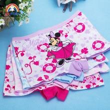 Panties Kids Underwear Short Boxes Mouse-Printing Girls Chidren Minnie Cotton Cartoon