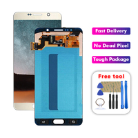For Samsung Galaxy Note 5 N920 N920V N920T N920A N9200 LCD Display Touch Screen Digitizer Assembly Replacement Free Tools
