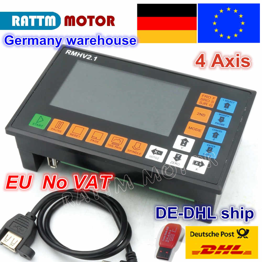 Eu Free Vat 4 Axis Plc Controller 500khz Off Line Operation G Code For Cnc Router Engraving Machine Stepper Motor Servo Motor Motor Driver Aliexpress