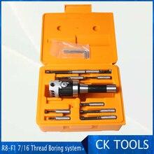 top quality R8 7/16  Arbor F1 -12 50mm boring head and 9pcs 12mm boring bars, boring head set