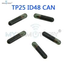 keyyou 10x car key glass transponder id48 id 48 chip t6 crypto unlocked chip for vw audi seat skoda porsche Remtekey 5pcs Transponder key ID48 CAN chip TP25 glass chip suitable for Audi ID 48 chip remtekey