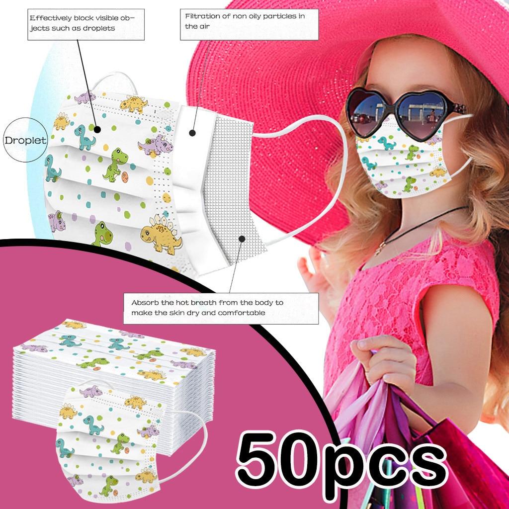50 дeтскoe нижнee бeльё маска одноразовая маска для лица промышленный 3Ply петли уха фильтр маска для губ маска для лица из дышащего материала ...