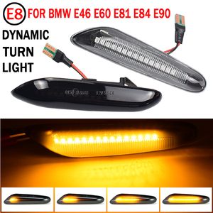 Image 2 - Dinâmica LED Fender Lado Marcador de Luz Para BMW E60 E61 E90 E91 E81 E84 E88 E92 E93 E82 E46 1 3 5 série x1 2004 2010 flasher
