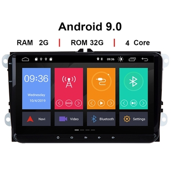 2 Din Android 9 Car Multimedia GPS Navigation for Amarok Passat B6 Golf 56 Skoda Octavia 2 Superb 2 Seat Leon Radio