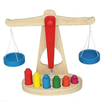 Montessori Kids Balance Scale Toys Children Kids Early Education Learning Puzzle Toys For Kids Gift montessori mathematics material toys for kids early learning multiplication