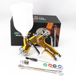 Image 1 - Hohe Qualität Spray Gun GTI Pro Malerei Gun TE20/T110 1.3/1,8mm Düse Farbe Gun Wasser Basierend luft Spritzpistole Airbrush
