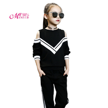 Girls Clothing Sets Spring Autumn Sports Suits Long Sleeve Shirts+Pants 2PCS Children Clothing Girls Clothes 4 6 8 10 12 Years стоимость