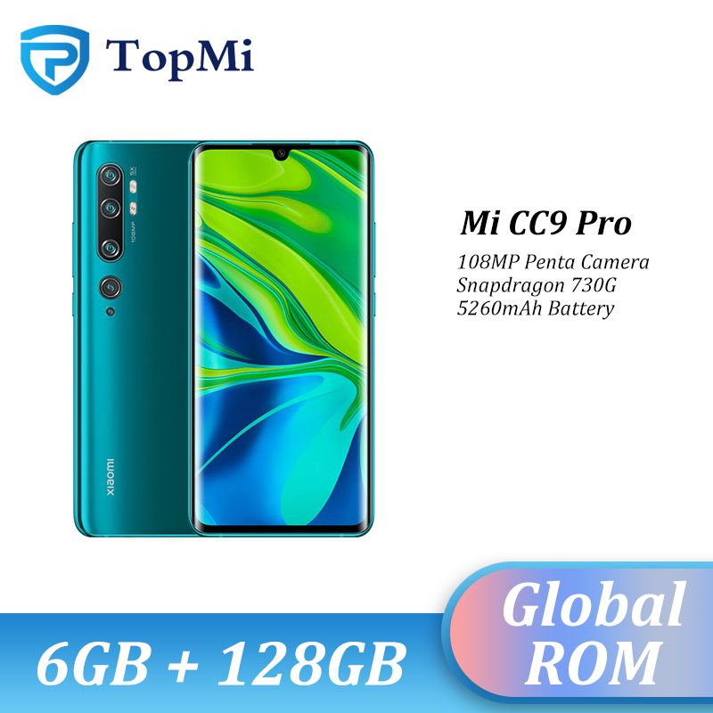 Global ROM Xiaomi Mi CC9 Pro 6GB RAM 128GB ROM 108MP Penta Camera Smartphone 5260 MAh Snapdragon 730G 6.47