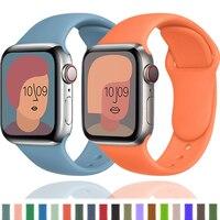 Silikon Strap Für Apple Uhr band 40mm 44mm 38mm 42mm 44mm Gummi armband smartwatch armband iWatch serie 3 4 5 6 se band