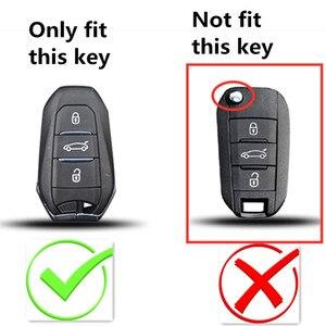 Image 2 - 2019 smart remote car key fob case cover for Peugeot 508 301 2008 3008 4008 407 408 Citroen C5 C6 C4L CACTUS C3XR DS Keychain