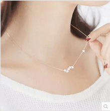 цена на 925 sterling silver chain necklace star pendant clavicle chain neck chain women necklace jewelry collar