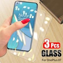 3 pçs 9h 2.5d vidro temperado para oneplus 8t protetor de tela para oneplus nord n100 6t 7 7t 8t vidro