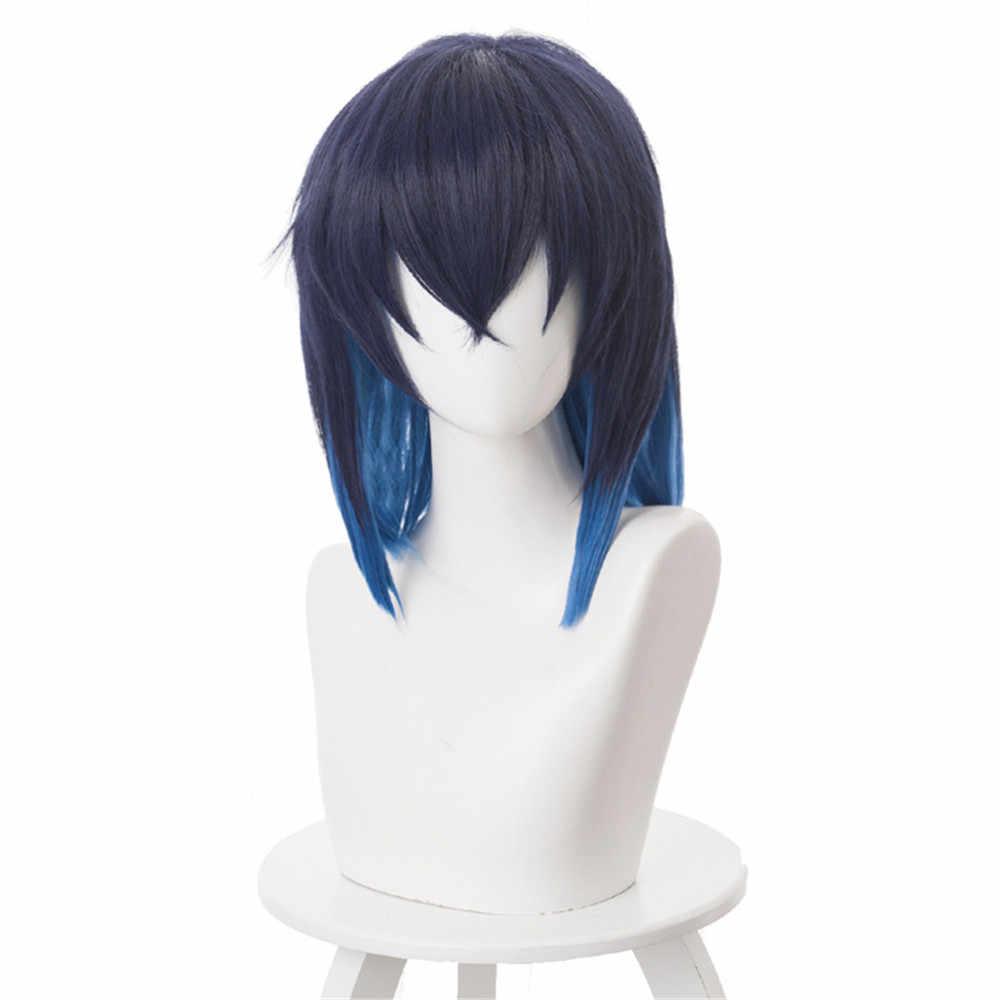 Demon Slayer Kimetsu no Yaiba Hashibira Inosuke Cosplay Wig Hair Halloween Carnival Wigs