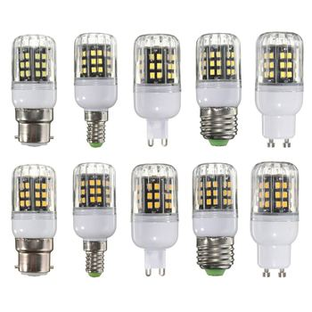E27 E14 B22 G9 GU10 10W 42 LED 2835 SMD Cover Corn Light Lamp Bulb AC 110 Non-Dimmable LED Bulb image