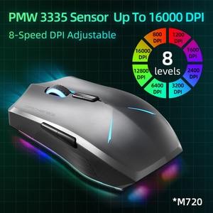 Image 4 - Machenike M7 무선 마우스 게이밍 마우스 게이머 16000 인치 당 점 RGB 프로그래밍 가능 충전식 PMW3212 PMW3335 컴퓨터 마우스