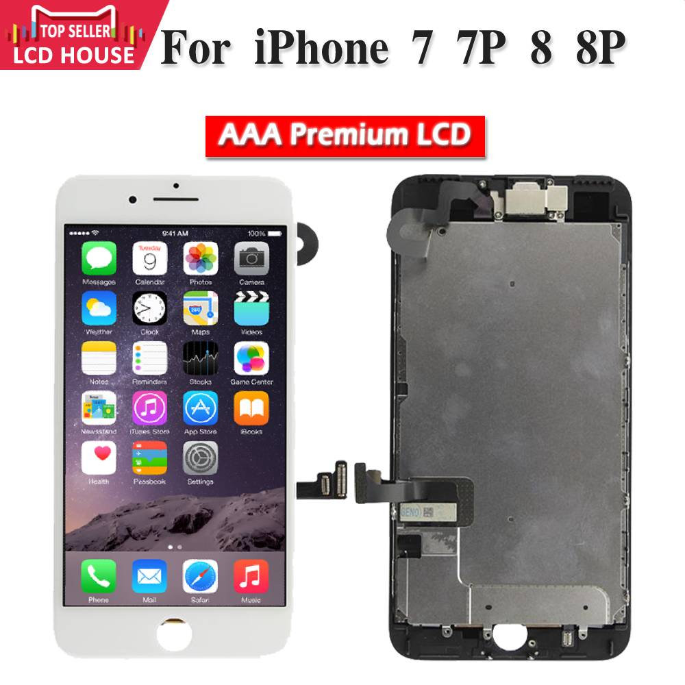 Full Set LCD Screen for iPhone 7 7P 8 8P Display Digitizer Assembly Replacement With Front Camera Sensor Ear Speaker A1660 <font><b>A1778</b></font> image