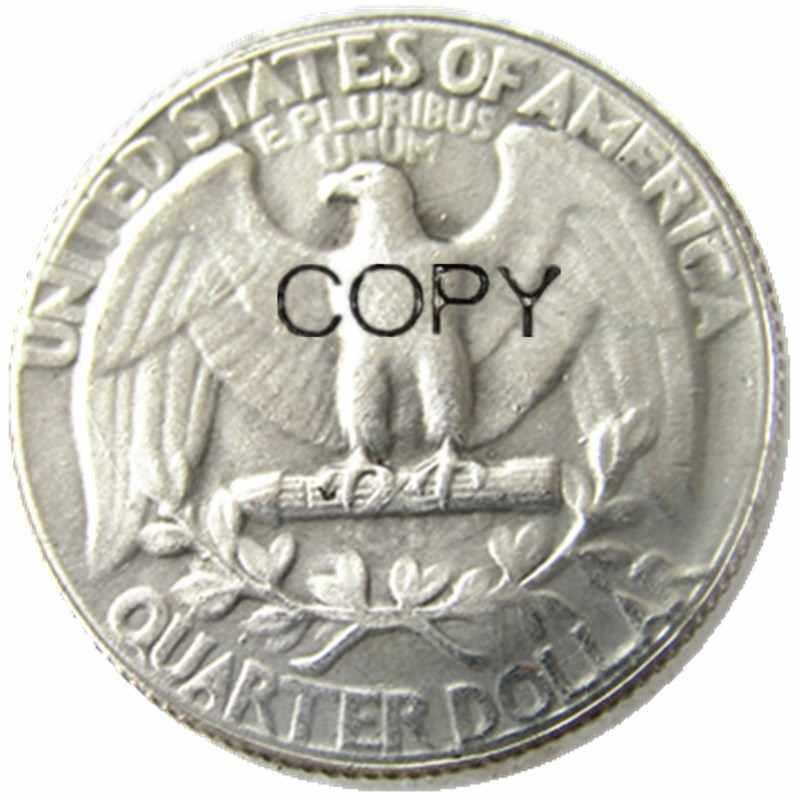 W (11) Hobo Creatieve 1934 Washington Quarter Dollar Schedel Zombie Skeleton Hand Gesneden Verzilverd Kopie Munten