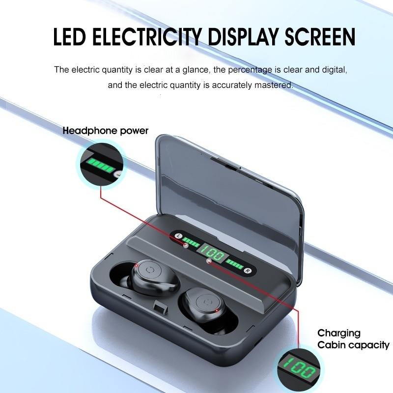 Цифровой дисплей Bluetooth-гарнитура отпечатков пальцев Touch интеллектуального шумоподавления и водонепроницаемый