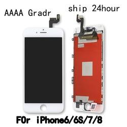Jakości dla iPhone 6 6S 6Plus 6S Plus LCD z doskonałym 3D montaż digitizera ekranu dotykowego dla iPhone 6S wyświetlacz Pantalla 6G w Panele dotykowe do telefonów komórkowych od Telefony komórkowe i telekomunikacja na