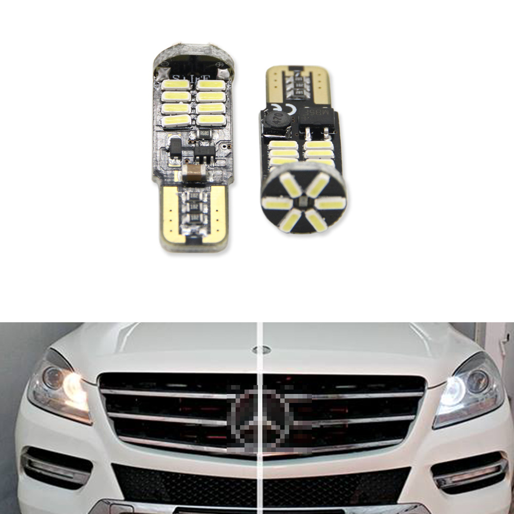 Canbus T10 W5W SMD 4014 22LED Car Wedge Clearance Lights Parking Light For <font><b>Mercedes</b></font>-Benz M-Class W166 (2012) image