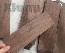 20Pieces/Lot 6.5x20cm Thickness:0.5mm Black Walnut Log Bark Veneer Pure Solid Wood Chips