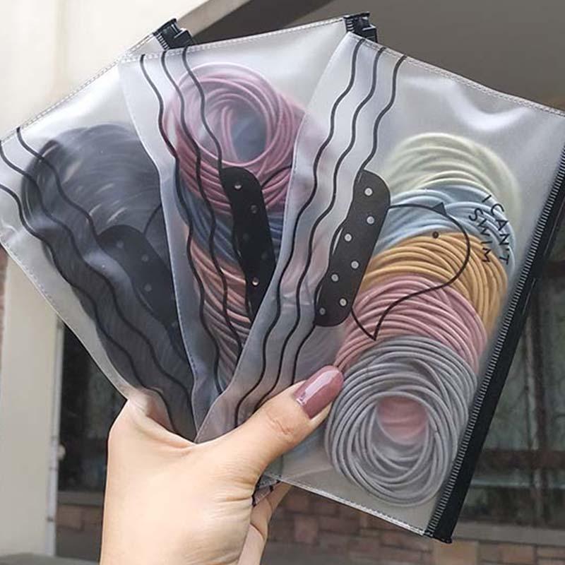 Женская резиновая лента для волос, яркая эластичная лента для волос, аксессуар для волос размером 5 см, 100