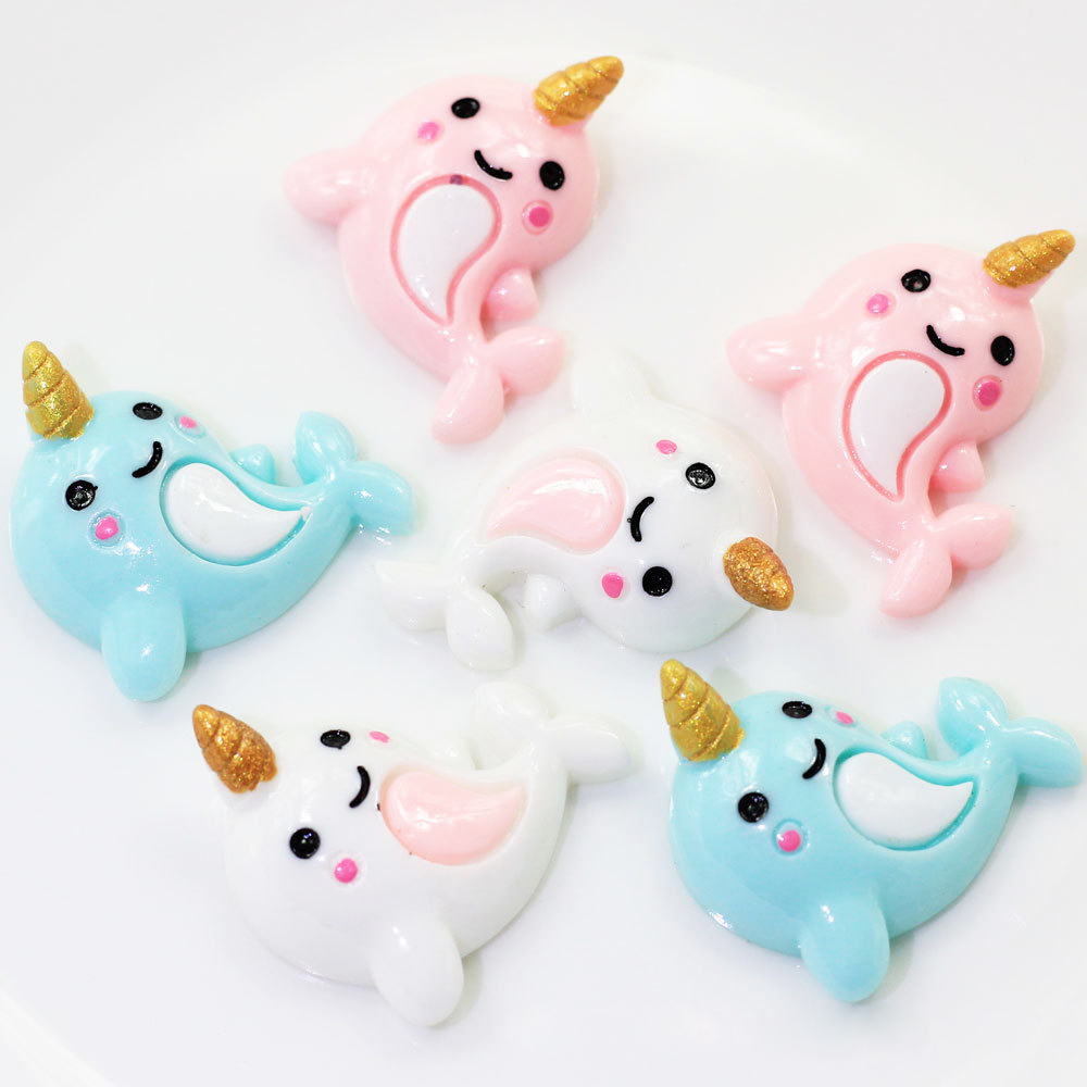 5 Pcs/lot Creative Unicorn Dolphin Polymer Slime Charms Toy For Children Flatback Modeling Clay DIY Accessories Kids Plasticine