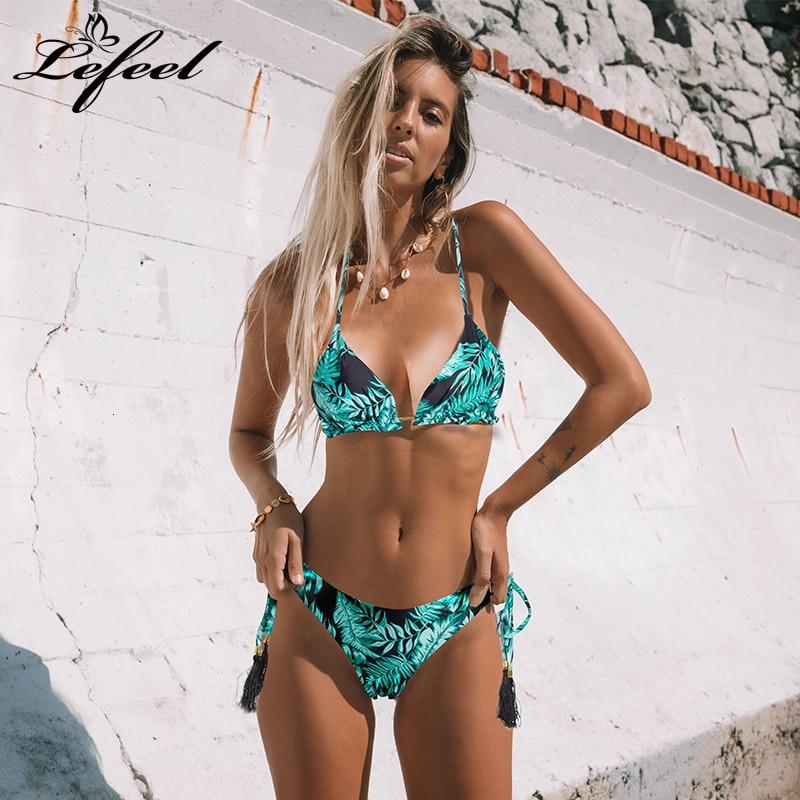 Sexy imprimé fleuri Bikinis rayé Patchwork maillot de bain femmes pansement Bikini ensemble maillots de bain brésilien maillots de bain nouveau maillot de bain