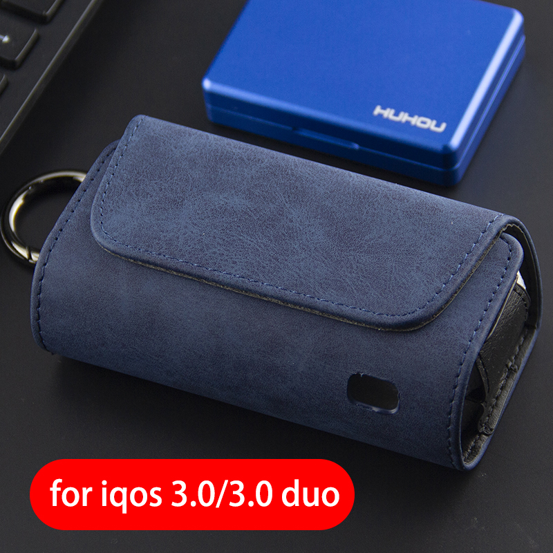 For Iqos 3.0 New Flannel Side Open Storage Bag 4  5 Generation PU Leather Case With Metal Buckle 3.0 Duo Protective Ca