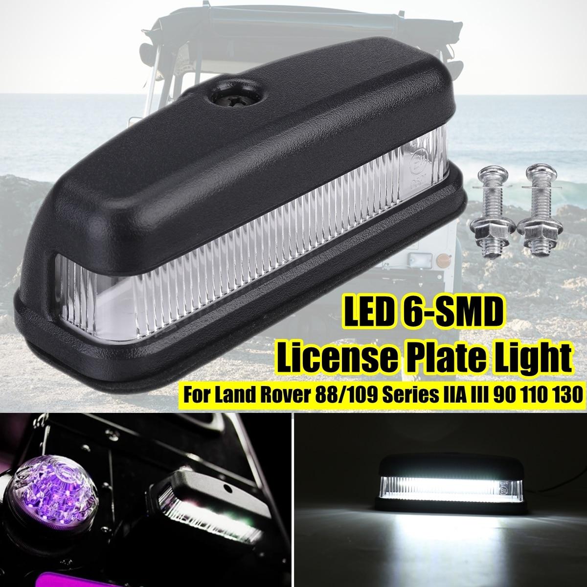 1pc Auto Hinten LED Kennzeichen Licht für Land Rover Defender 88 90 109 110 130 Auto Anzahl Platte lampe Zubehör Hohe Helligkeit