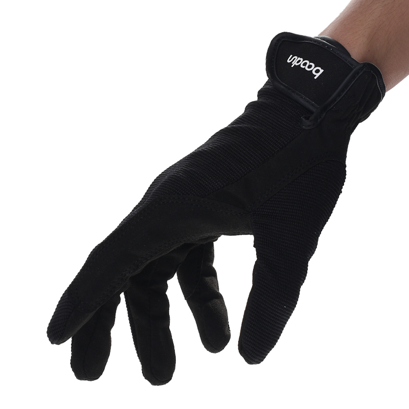 Horse Riding Glove Breathable Adjustable Horse Riding Accessory Anti-Slipping Durable Sports Black Equestrian Hand Accessory