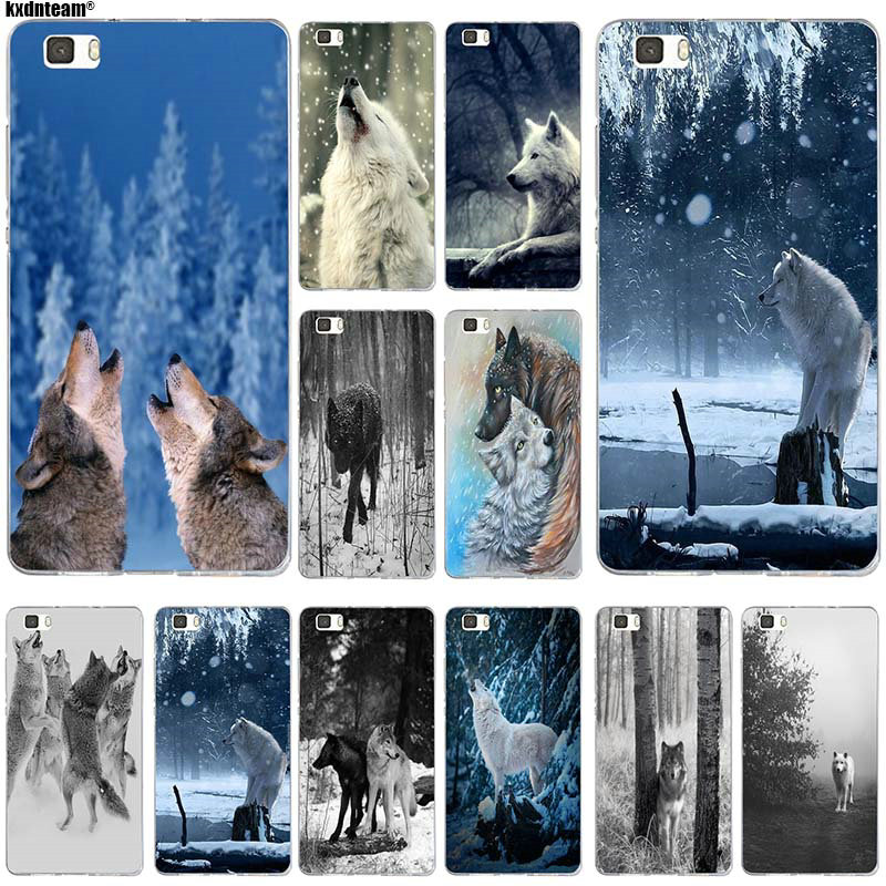 For <font><b>Sony</b></font> T3 Winter Wolves Clear Soft TPU <font><b>Phone</b></font> <font><b>Cases</b></font> for <font><b>Sony</b></font> <font><b>Xperia</b></font> Z Z1 Z2 Z3 Z4 Z5 Compact Z5 Premium M2 M4 M5 <font><b>E3</b></font> E5 T3 XA image