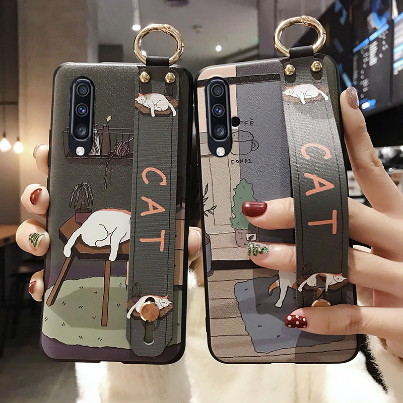 Phone Holder <font><b>Case</b></font> For <font><b>Samsung</b></font> <font><b>Galaxy</b></font> <font><b>A70</b></font> A60 A50 A40 A30 A20 A10 M20 S9 S8 S10 plus S10e Note 8 9 10 plus Wrist Strap <font><b>Ring</b></font> Holde image