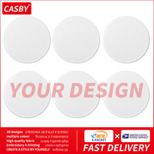 New Casual Full Print 6 Pieces Cup Mats Sets Simple Private Custom Graphic Coaster DIY Creative Design Pattern Teacup Cover W