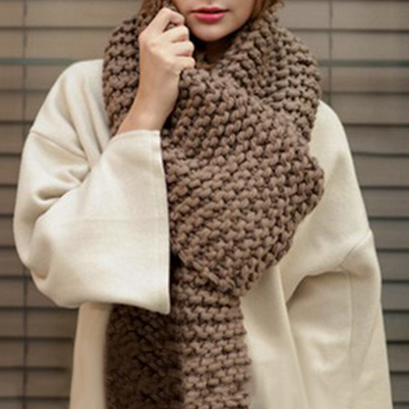 Femajor Women Autumn Winter Accessories   Scarf     Wrap   2019 Female Warm Long Knitted   Scarf   Ladies Solid Color Knitted Shawl   Scarves