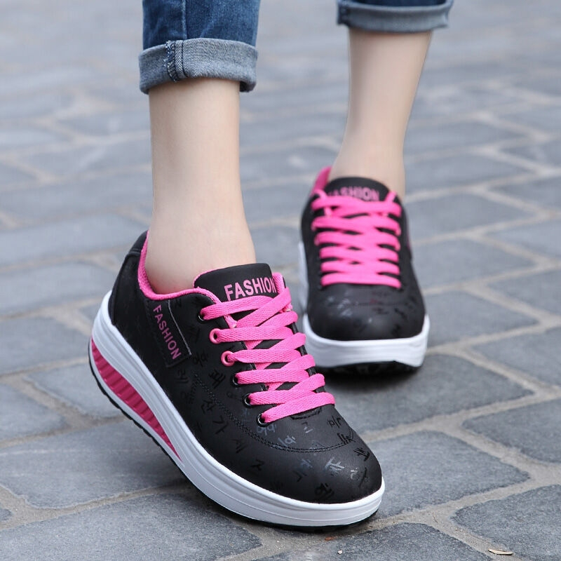 Women Shoes High Heel Lady Casual Women Sneakers Leisure Platform Shoes Women Breathable Height Increasing Shoes Tenis Feminino