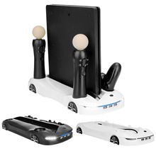 Bevigac Multifunktions Kühlung Lade Dock Station Stand mit 3 USB Port für Sony Playstation 4 PS4 Pro Dünne PS Bewegen controller